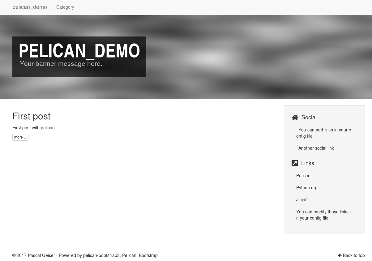 Pelican bootstrap3 theme